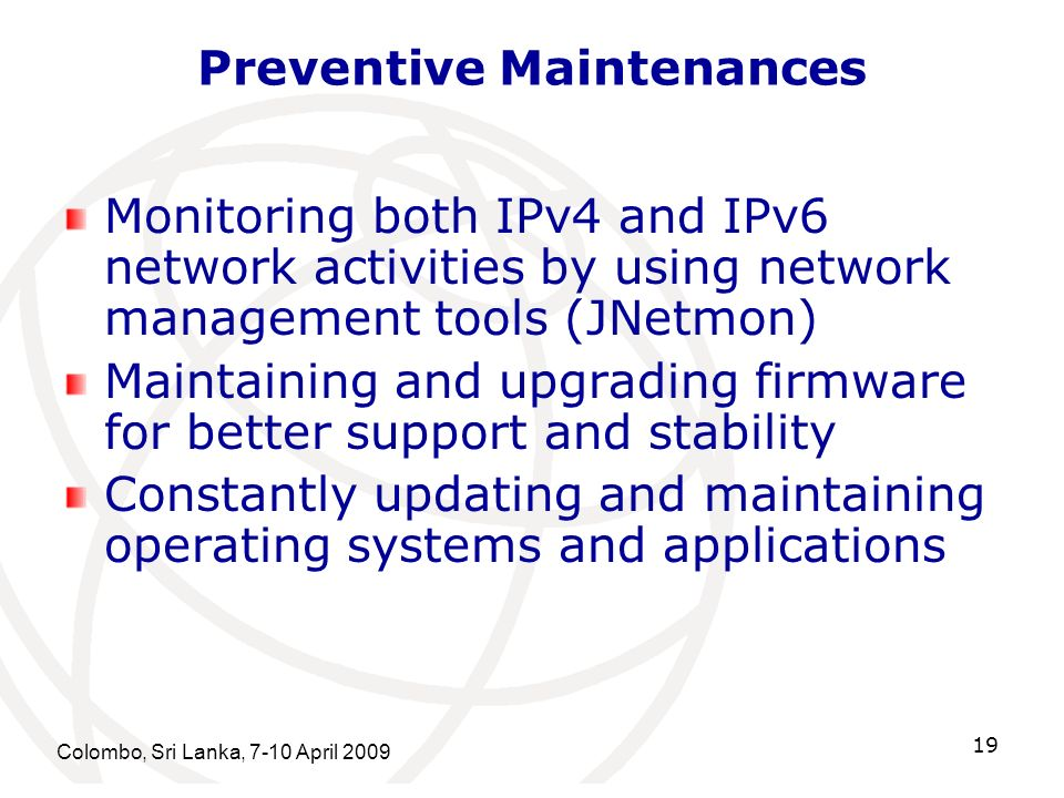 Preventive Maintenances
