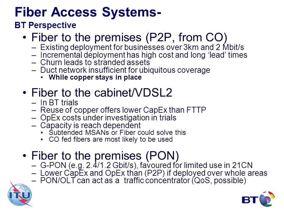 Fiber Access Systems- BT Perspective