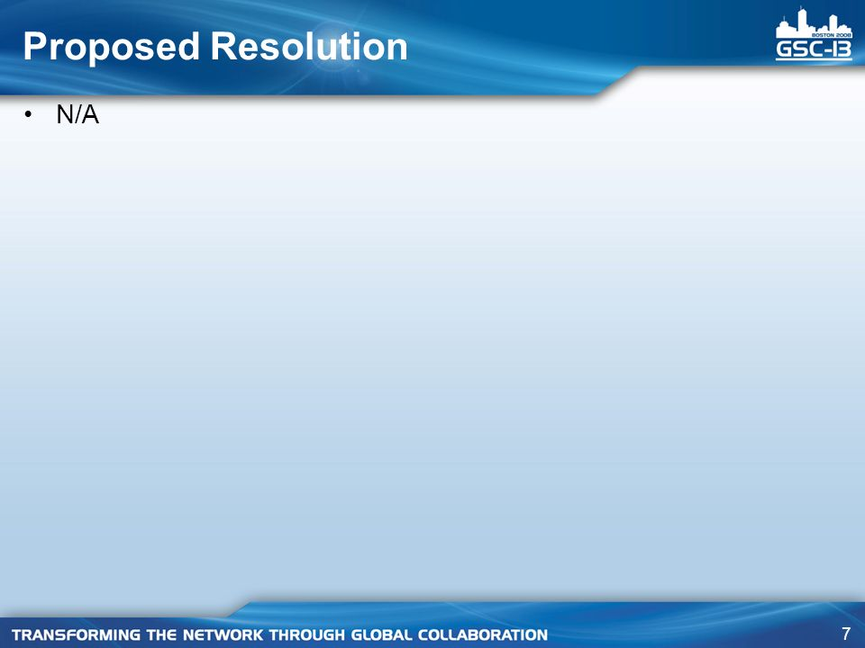 Proposed Resolution N/A