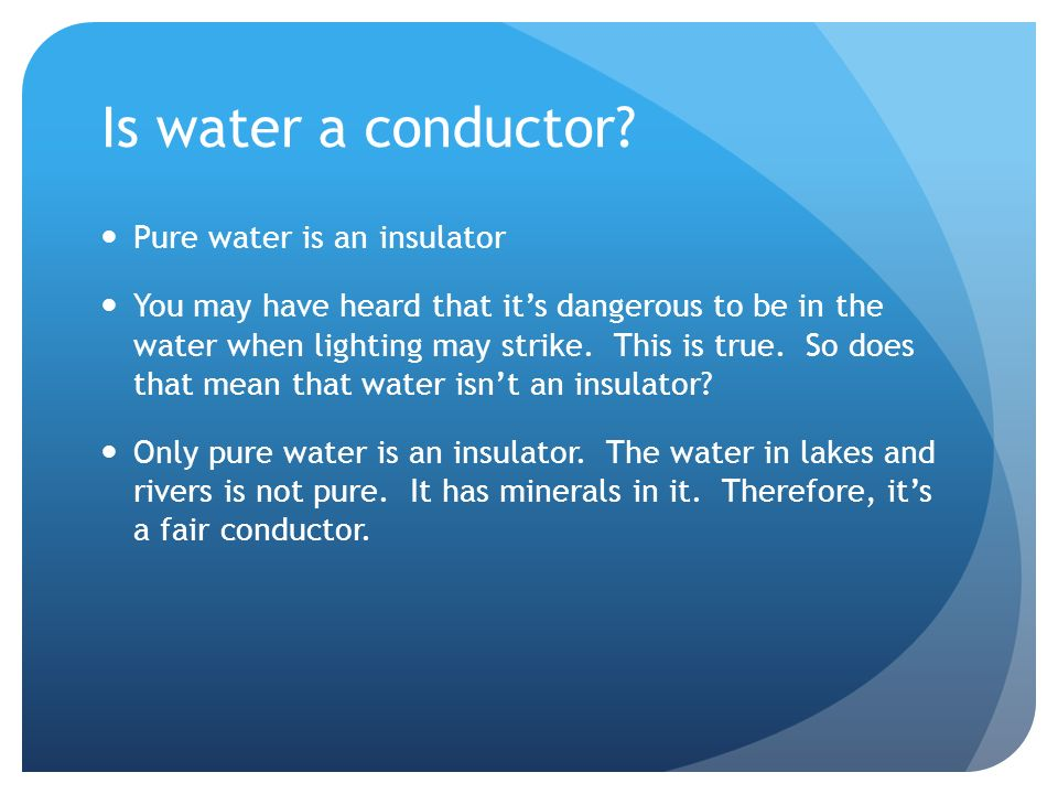 Water As A Conductor : Grade academic science rh king academy ppt video