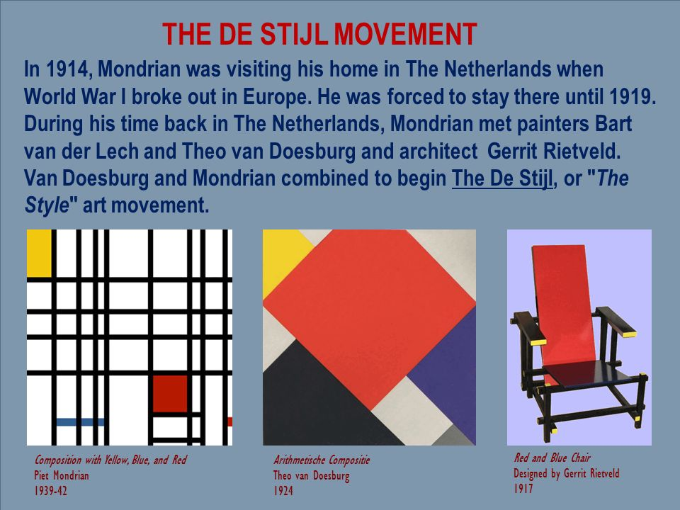 De Stijl and Bauhaus Movements: Modernism in the Soviet