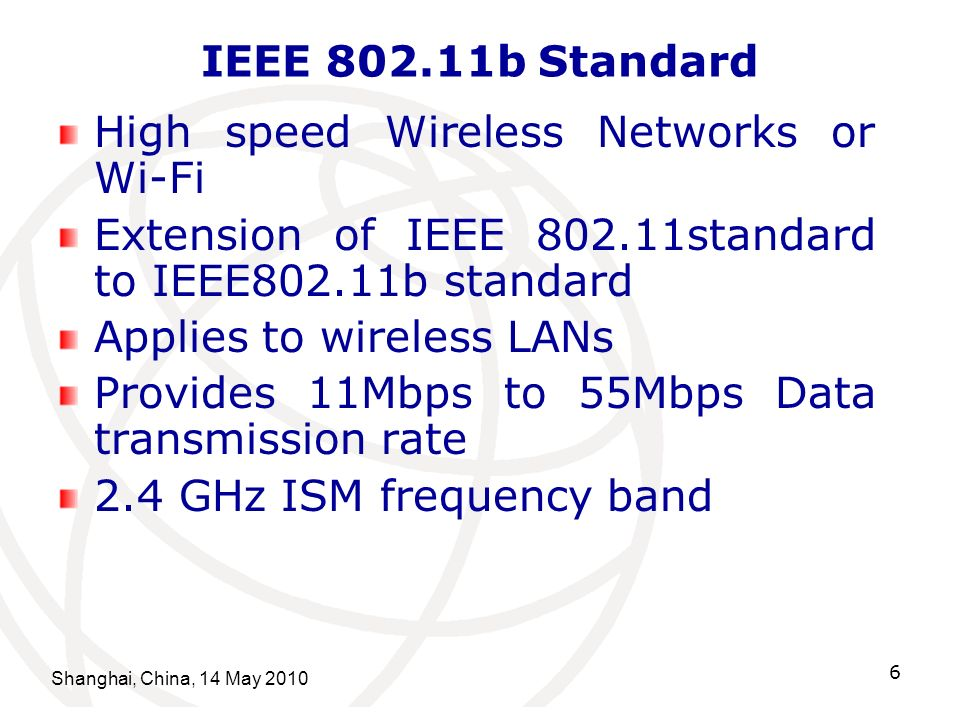 High speed Wireless Networks or Wi-Fi