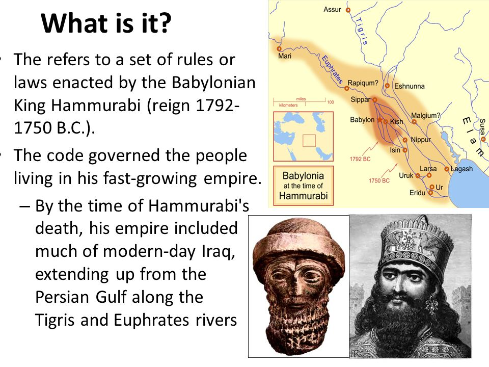 babylonian law vs modern law Presentation that highlights trammel law it is an ancient law that governs commerce, trade, and the people who willingly participate in and submit to its subterfuge welcome to modern-day babylon.