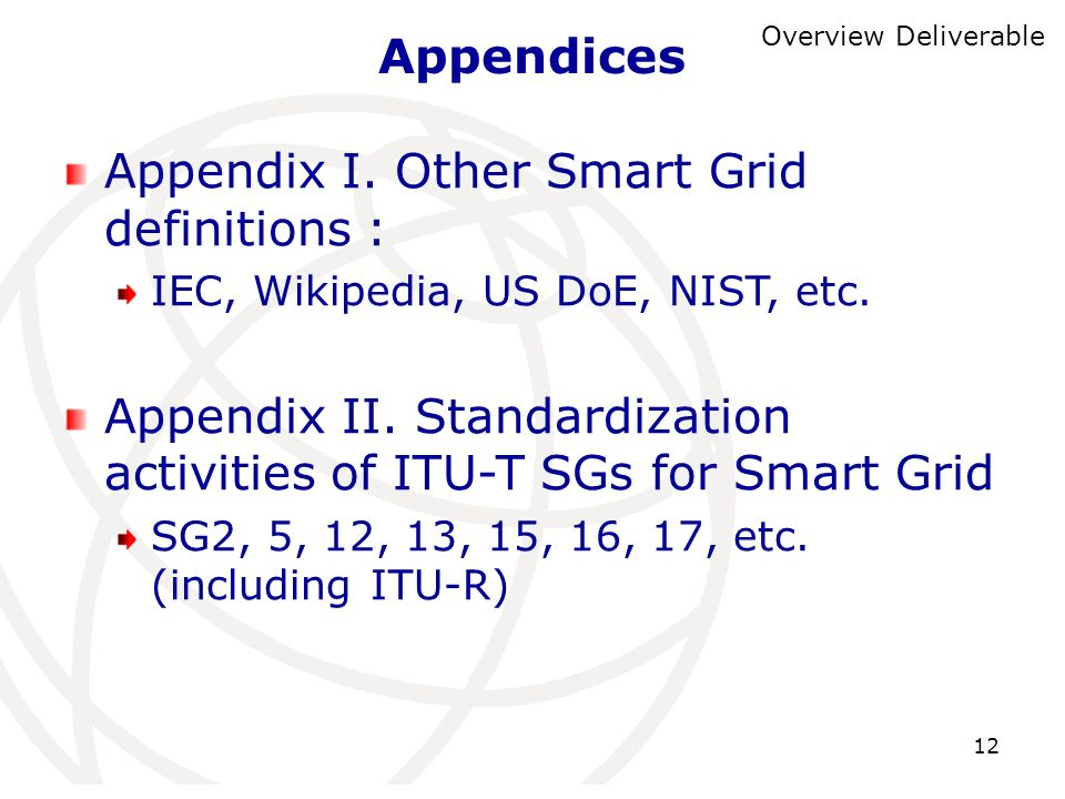 Appendix I. Other Smart Grid definitions :