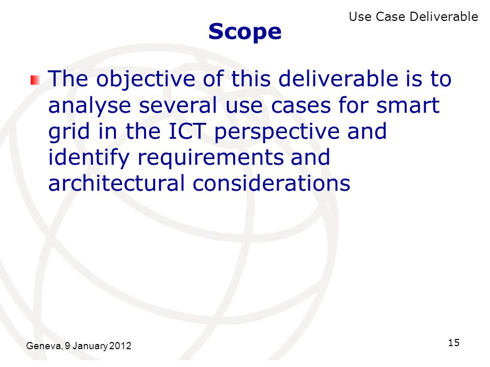 Scope Use Case Deliverable.