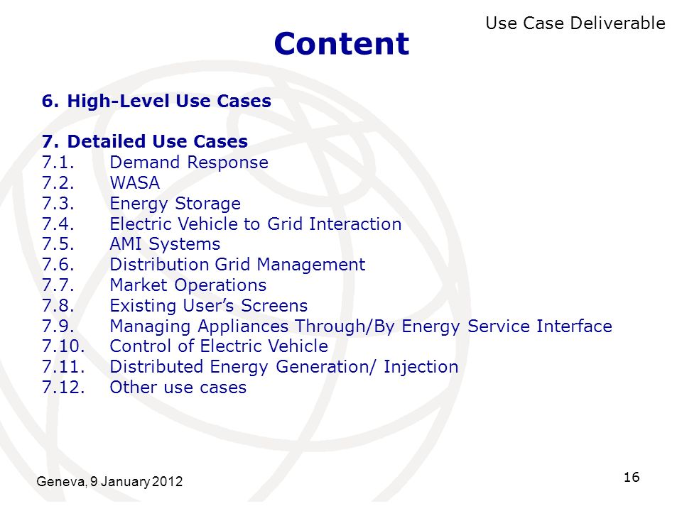 Content Use Case Deliverable High-Level Use Cases