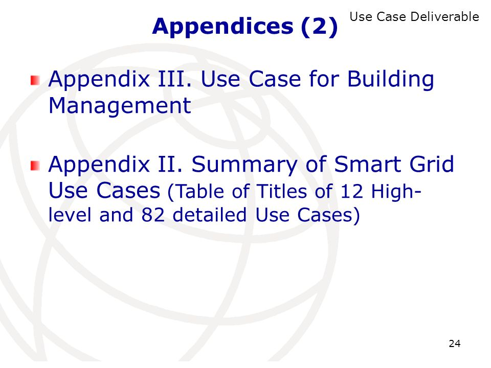 Appendix III. Use Case for Building Management
