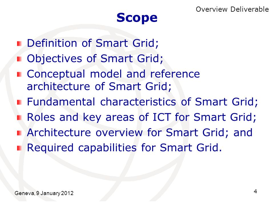 Scope Definition of Smart Grid; Objectives of Smart Grid;