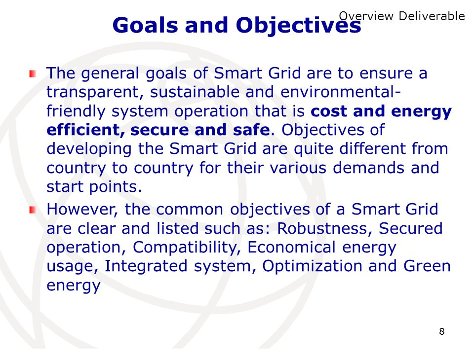 Goals and ObjectivesOverview Deliverable.