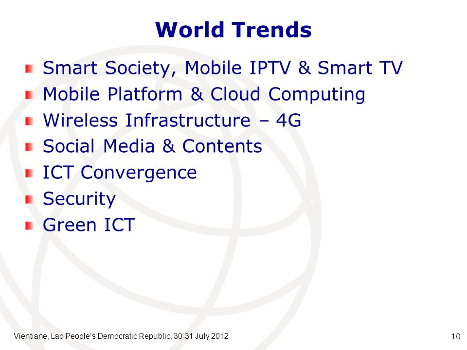 World Trends Smart Society, Mobile IPTV & Smart TV