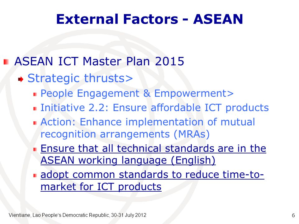External Factors - ASEAN