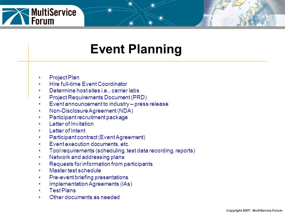 Event Planning Project Plan Hire full-time Event Coordinator