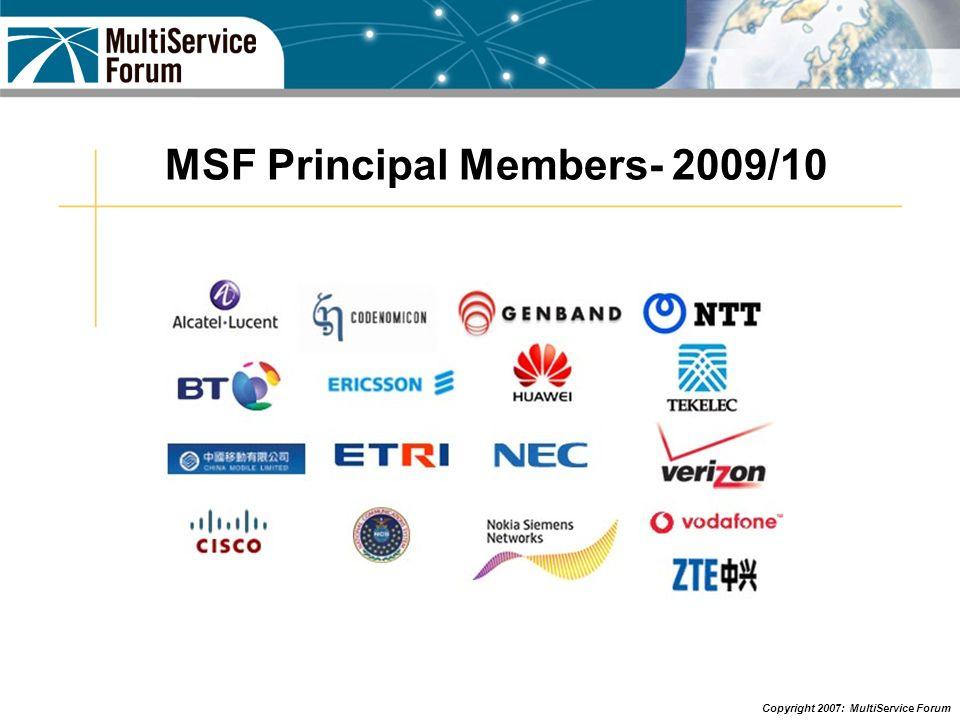 MSF Principal Members- 2009/10