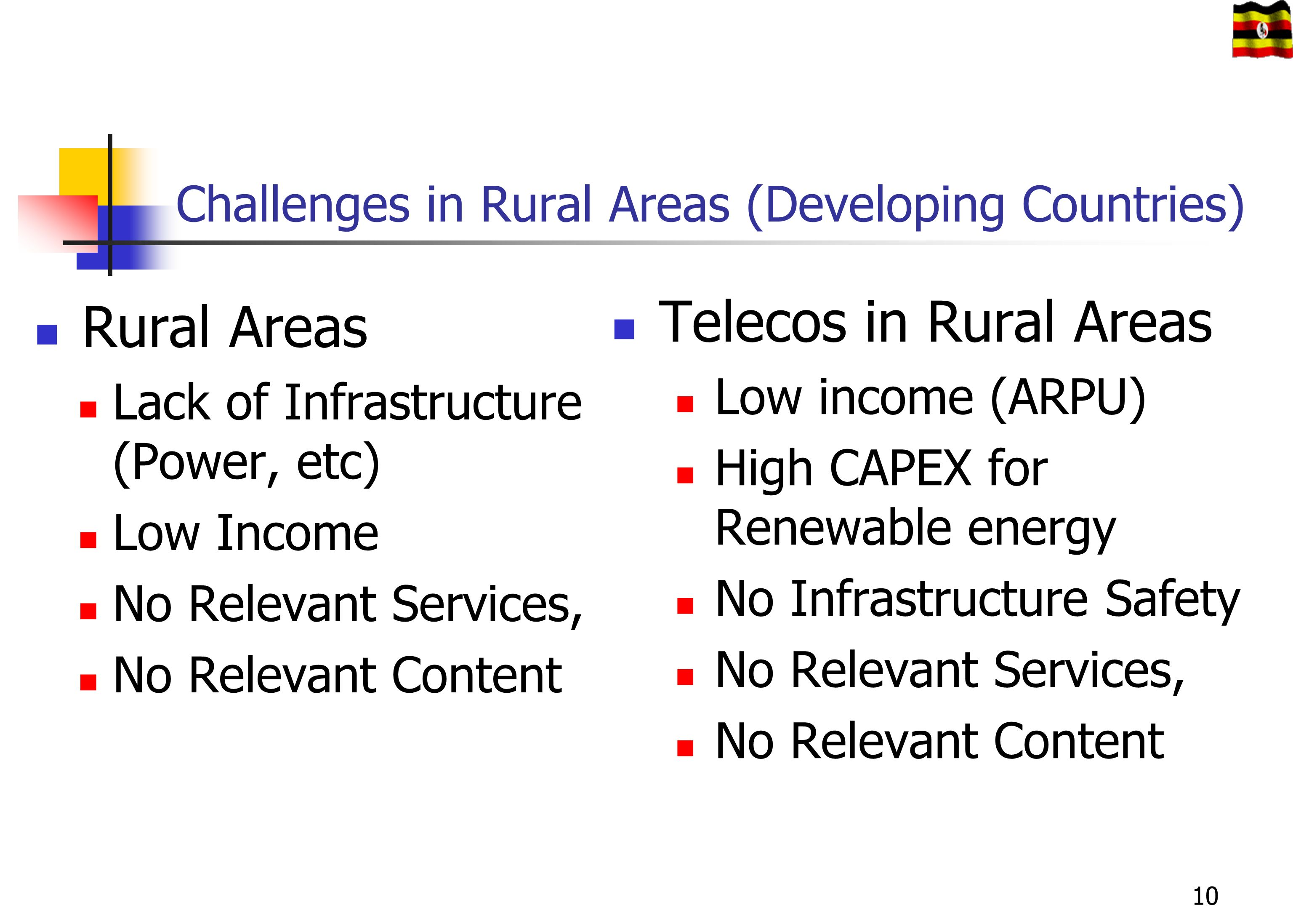 Challenges in Rural Areas (Developing Countries)