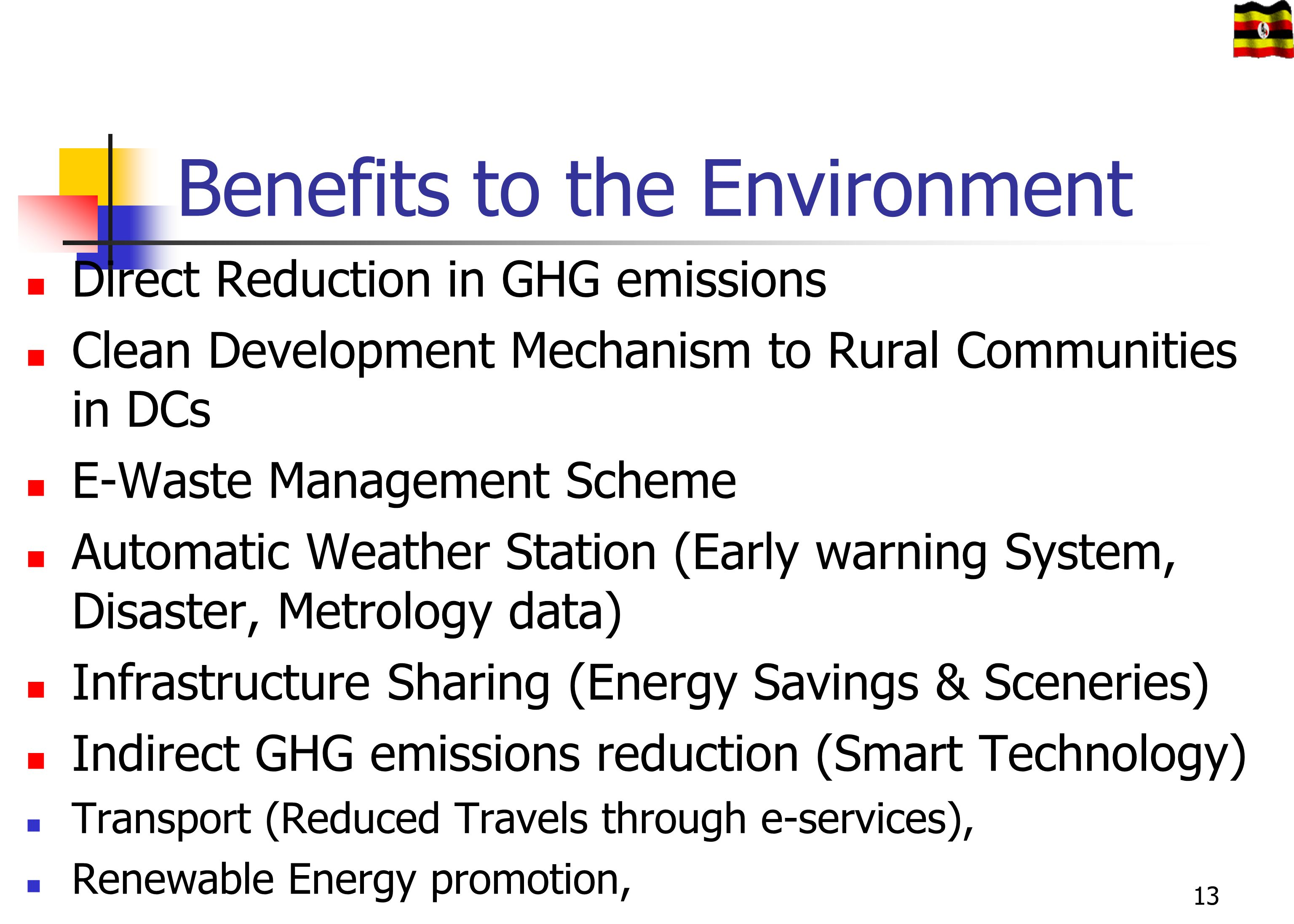 Benefits to the Environment