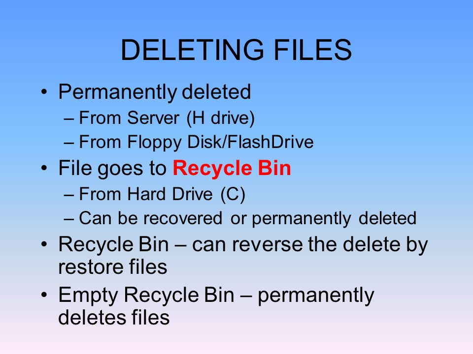 how to permanently remove deleted files from hard drive