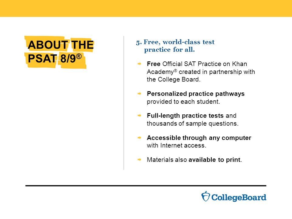 THE PSAT 8/9 ®. - ppt download