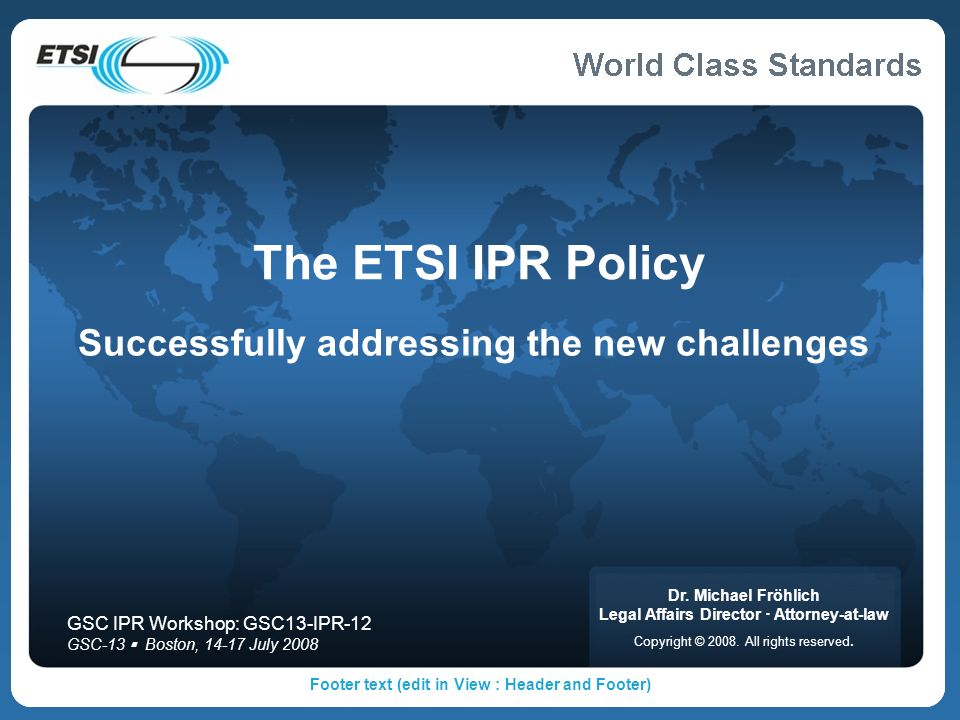 Successfully addressing the new challenges