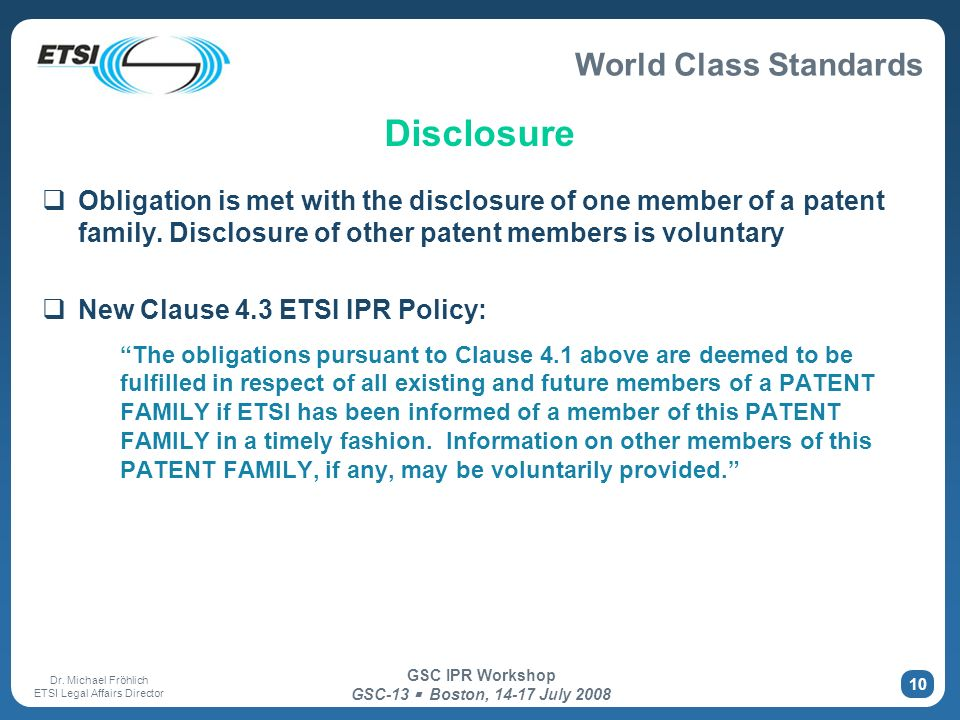 Disclosure Obligation is met with the disclosure of one member of a patent family. Disclosure of other patent members is voluntary.