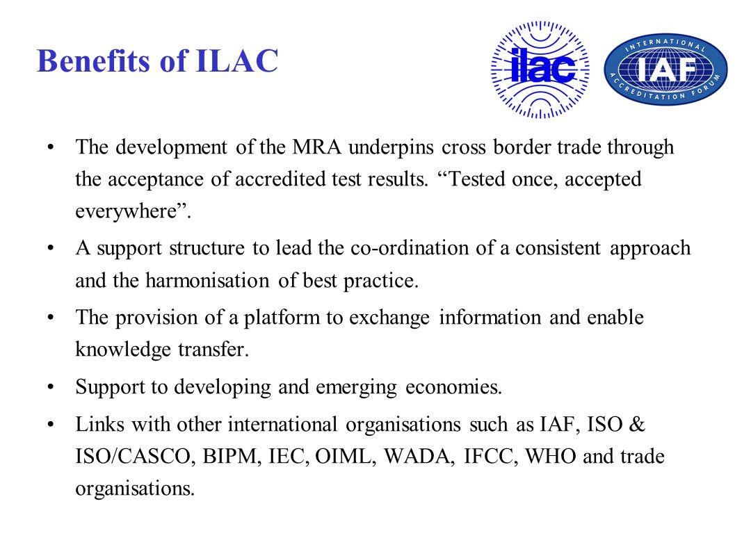 Benefits of ILAC