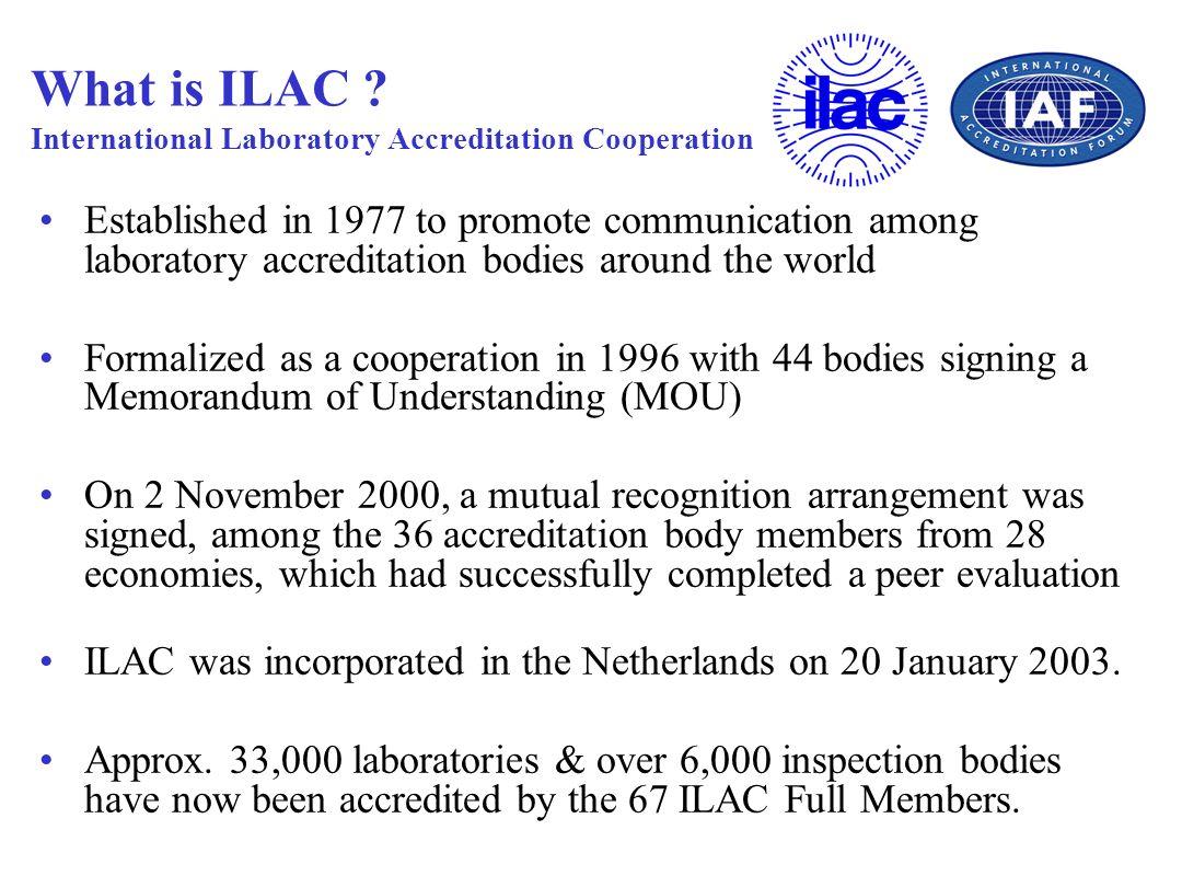 What is ILAC International Laboratory Accreditation Cooperation