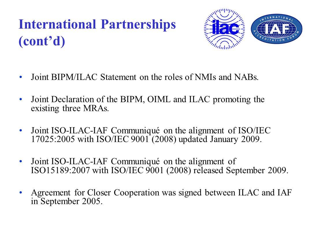 International Partnerships (cont'd)