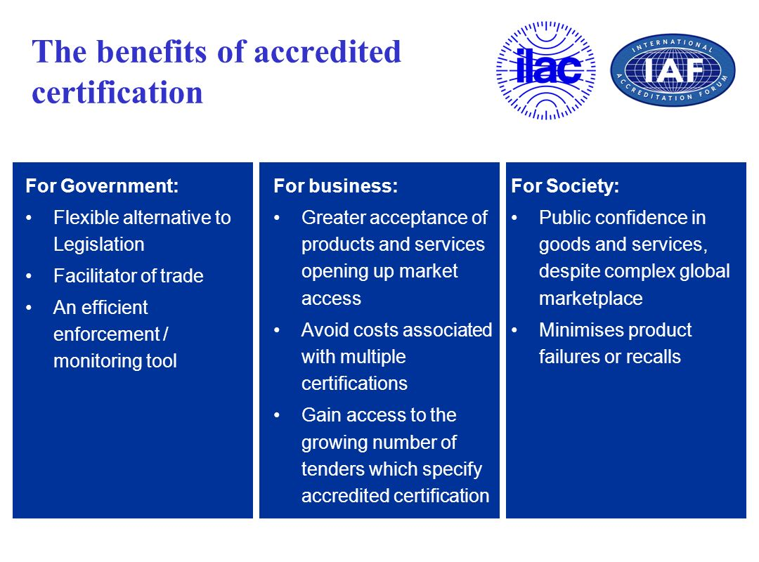 The benefits of accredited certification