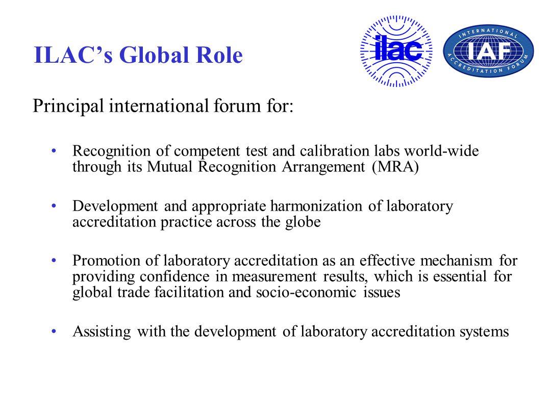 Principal international forum for: