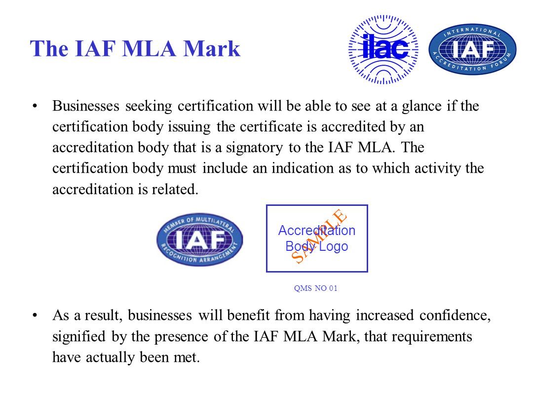 The IAF MLA Mark