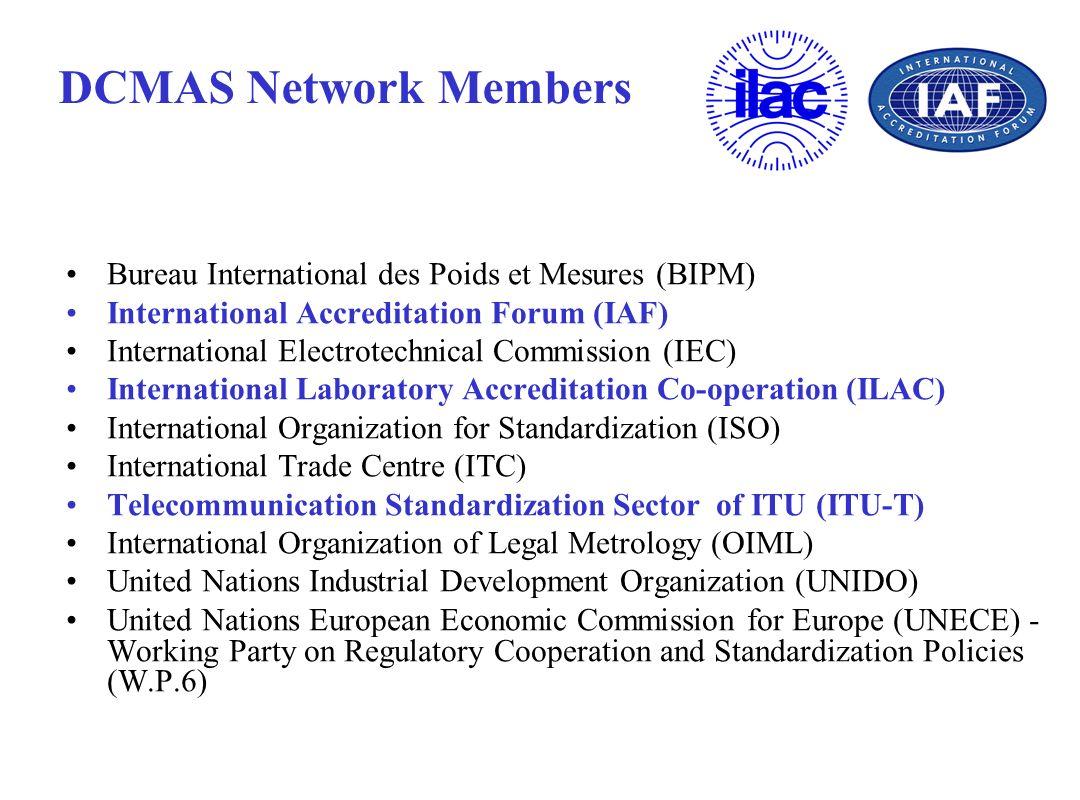 DCMAS Network Members Bureau International des Poids et Mesures (BIPM)