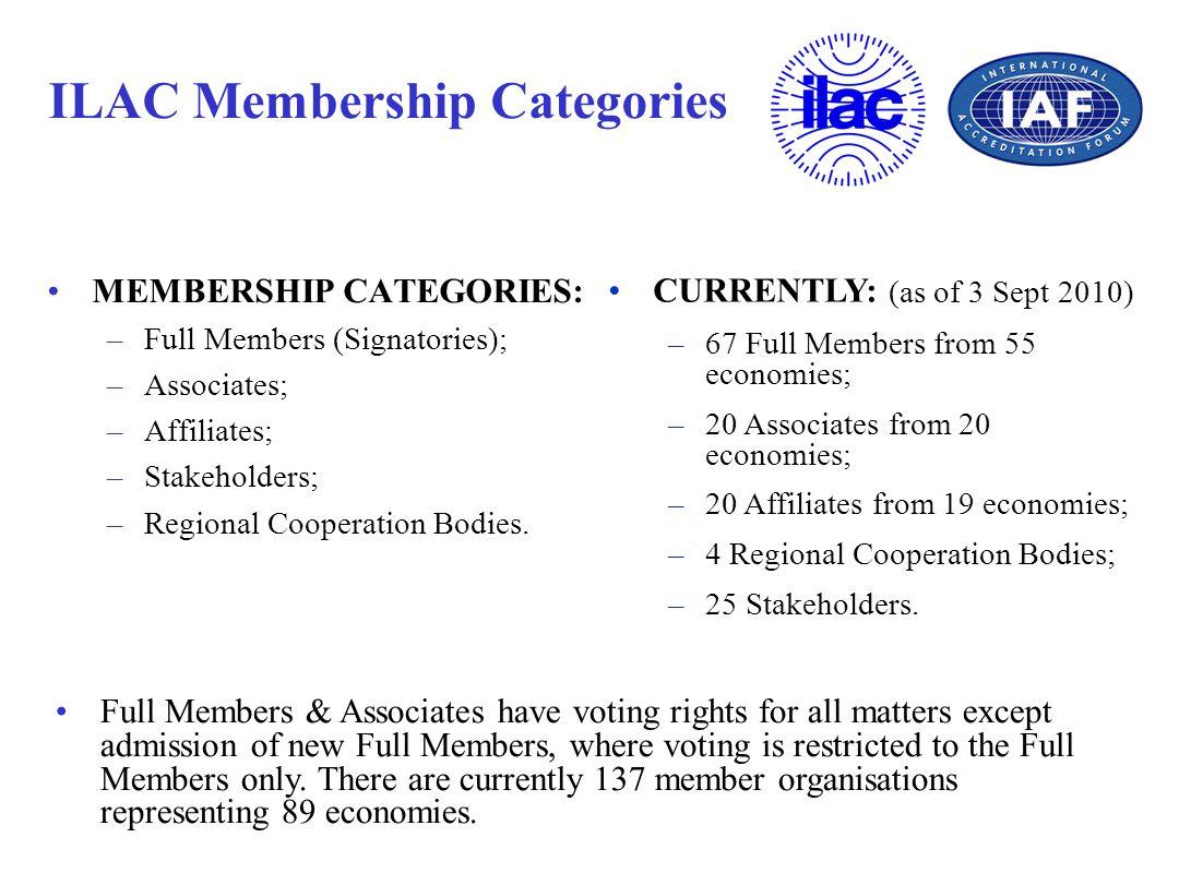 ILAC Membership Categories
