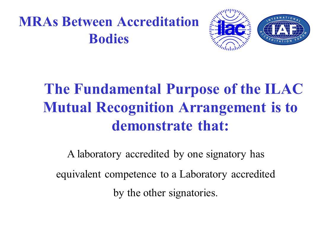 MRAs Between Accreditation Bodies