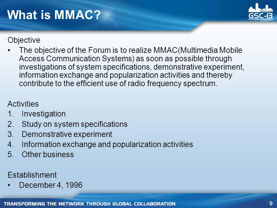 What is MMAC Objective.