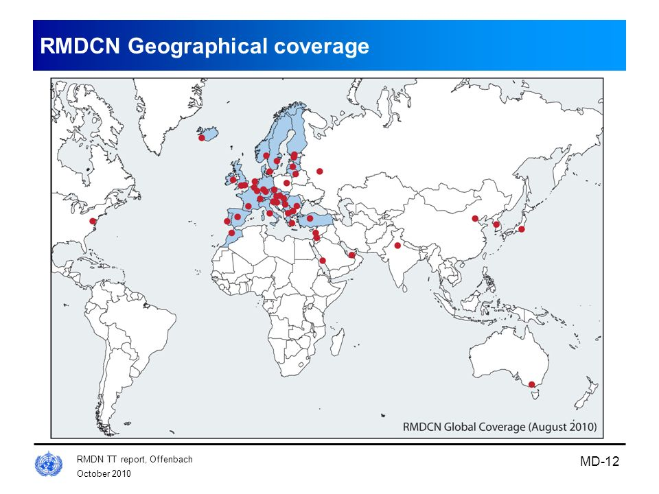 RMDCN Geographical coverage
