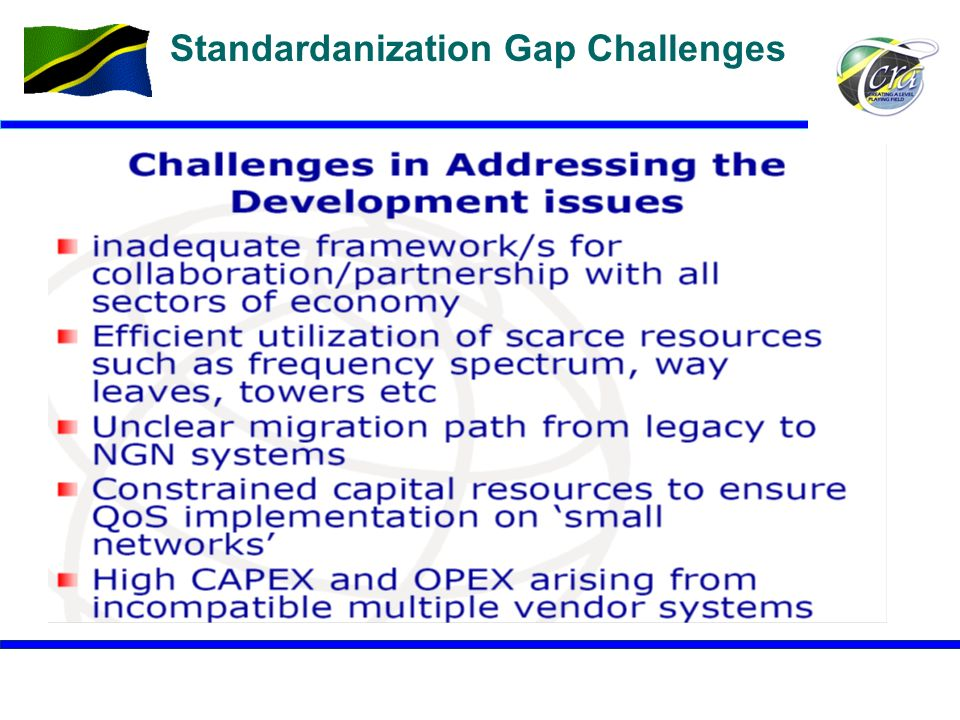 Standardanization Gap Challenges