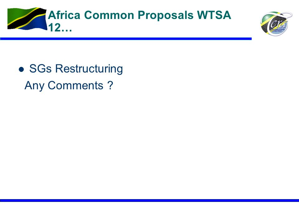 Africa Common Proposals WTSA 12…