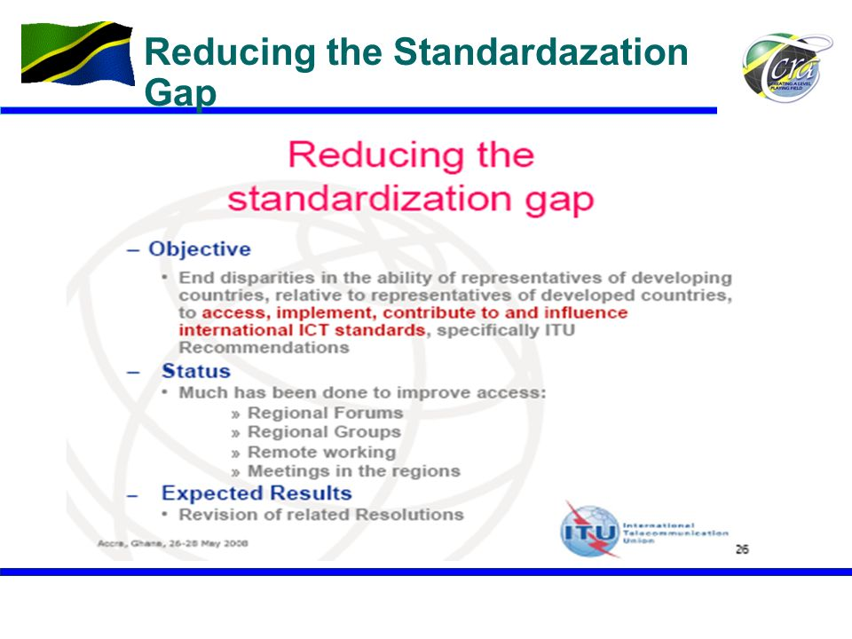 Reducing the Standardazation Gap