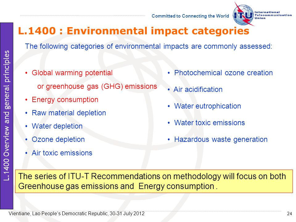 L.1400 : Environmental impact categories