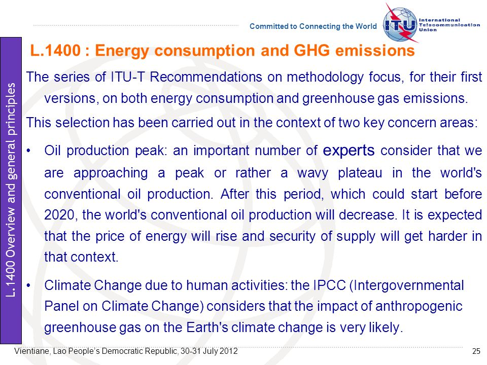 L.1400 : Energy consumption and GHG emissions