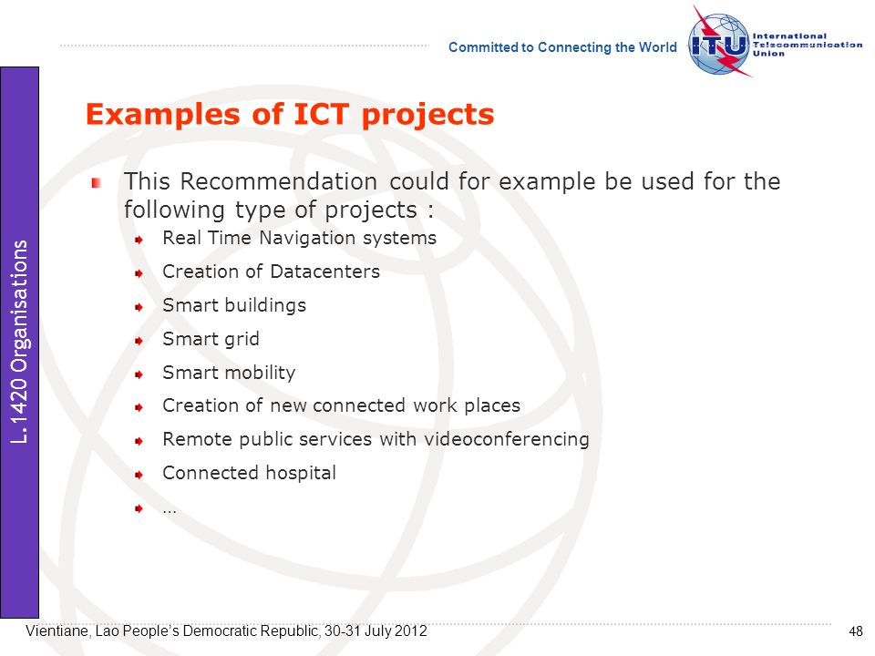 Examples of ICT projects