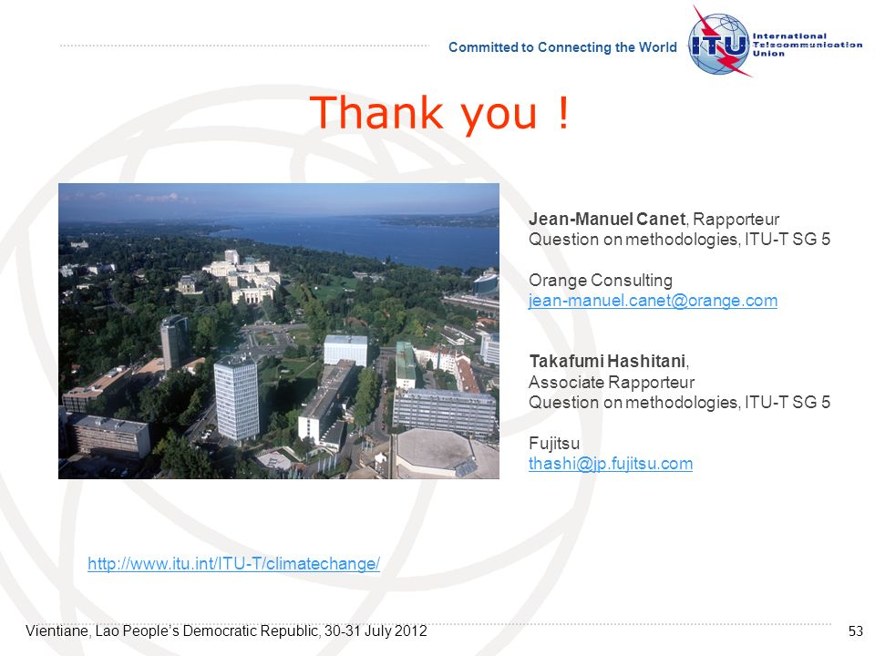 Thank you ! Jean-Manuel Canet, Rapporteur