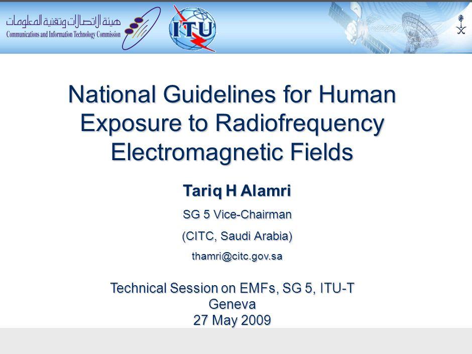 Technical Session on EMFs, SG 5, ITU-T