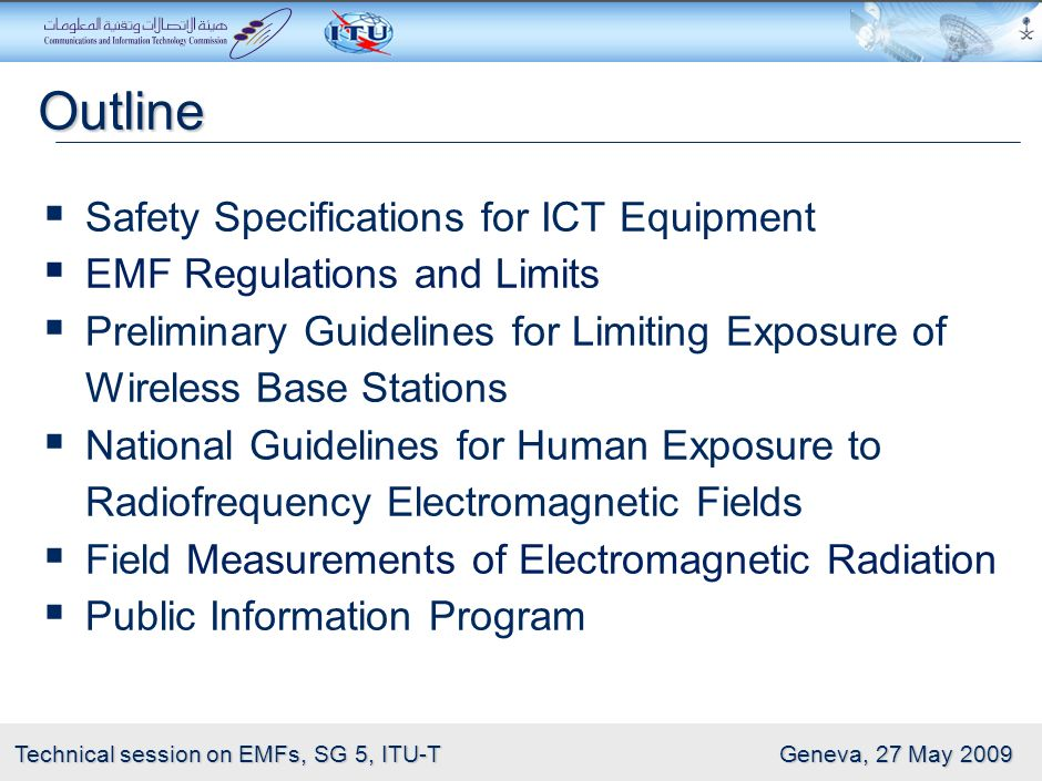 Outline Safety Specifications for ICT Equipment