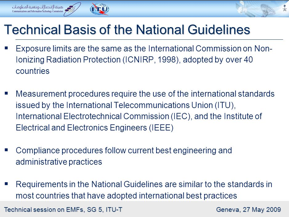Technical Basis of the National Guidelines