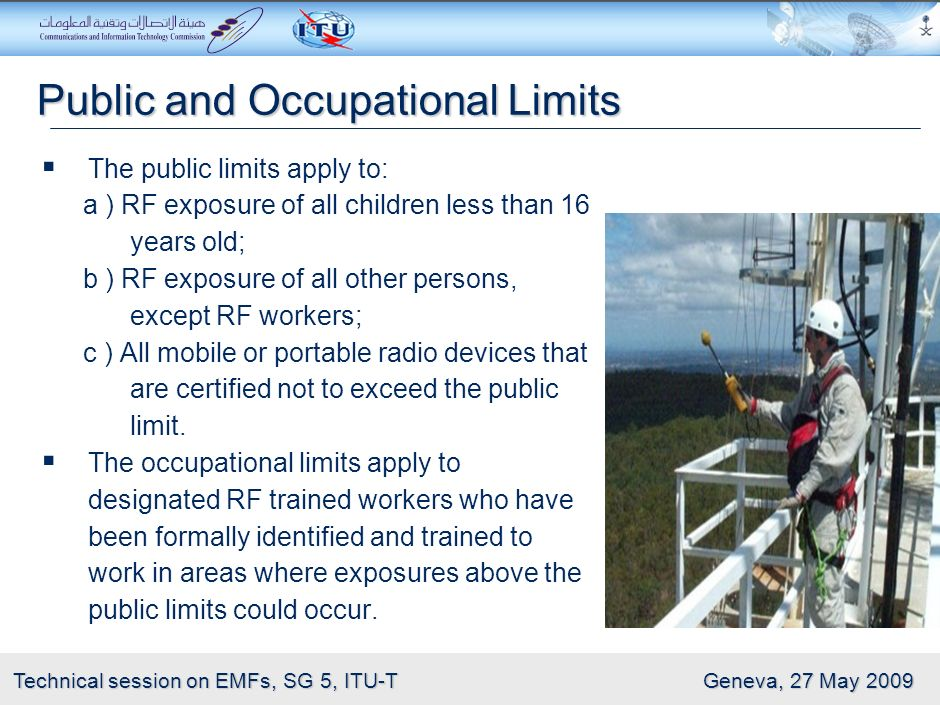 Public and Occupational Limits