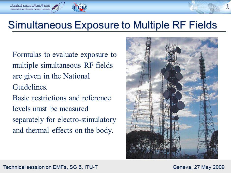 Simultaneous Exposure to Multiple RF Fields