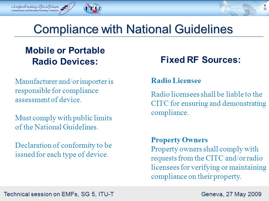 Compliance with National Guidelines