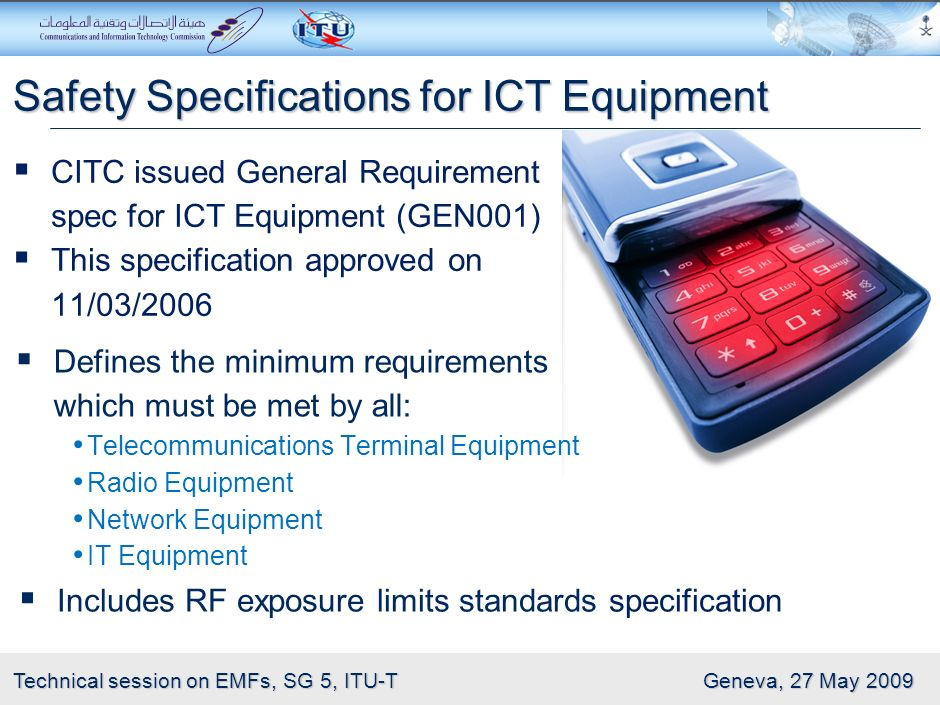 Safety Specifications for ICT Equipment