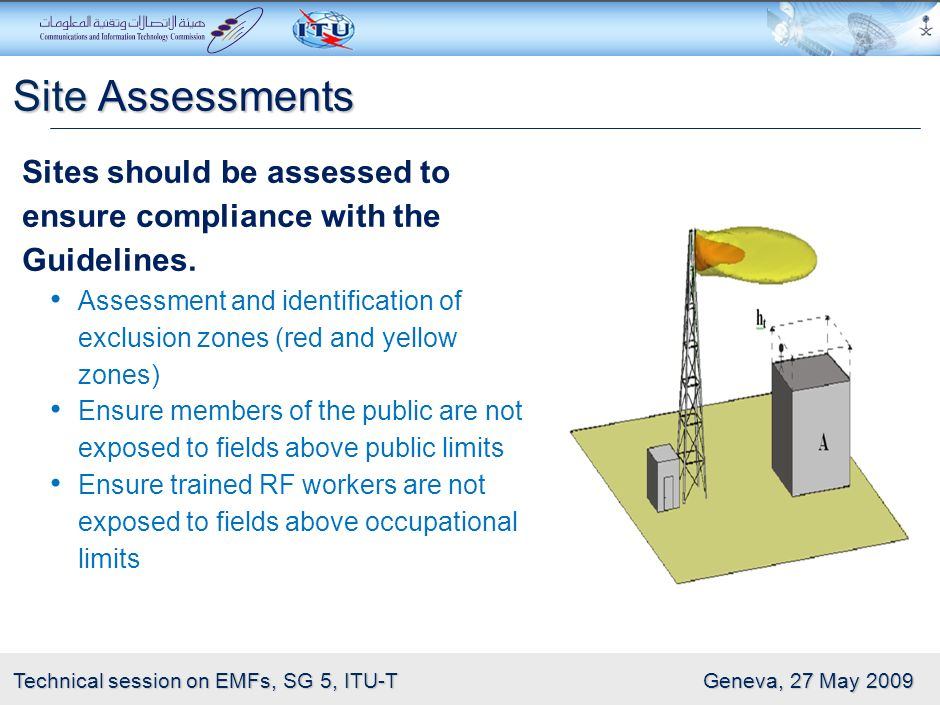 Site Assessments Sites should be assessed to ensure compliance with the Guidelines.