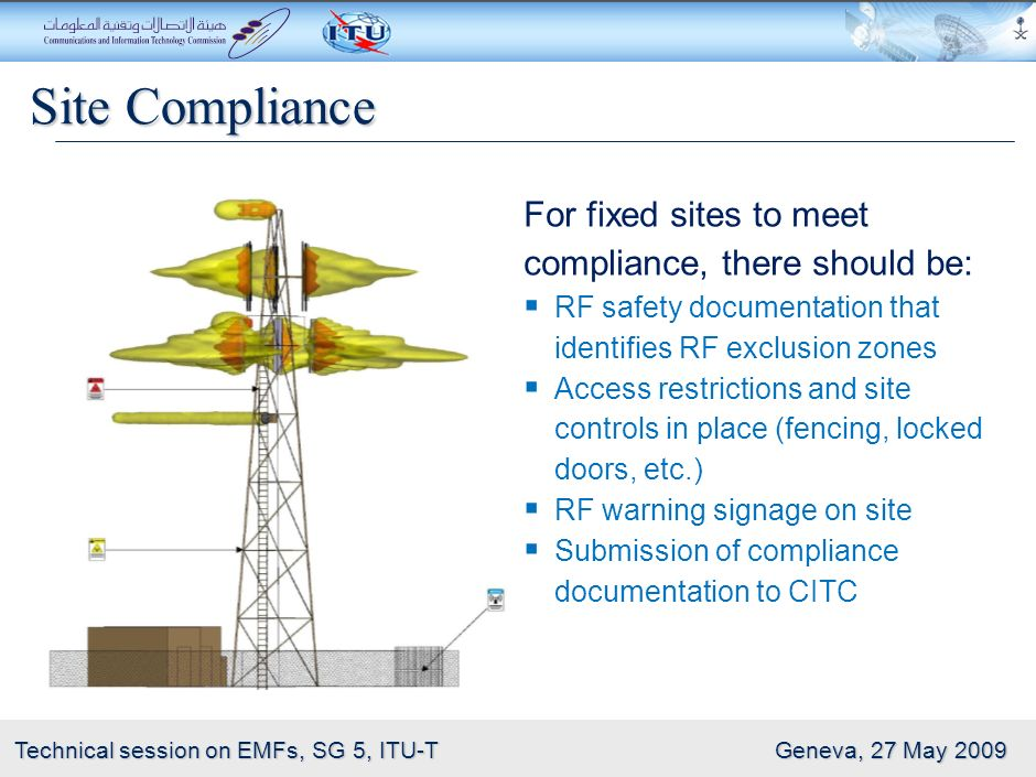Site Compliance For fixed sites to meet compliance, there should be: